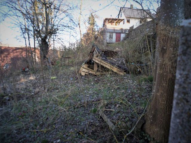 Vertragsfreie Freifläche mit Baumbestand hinter Wohnbebauung in Klingenstein