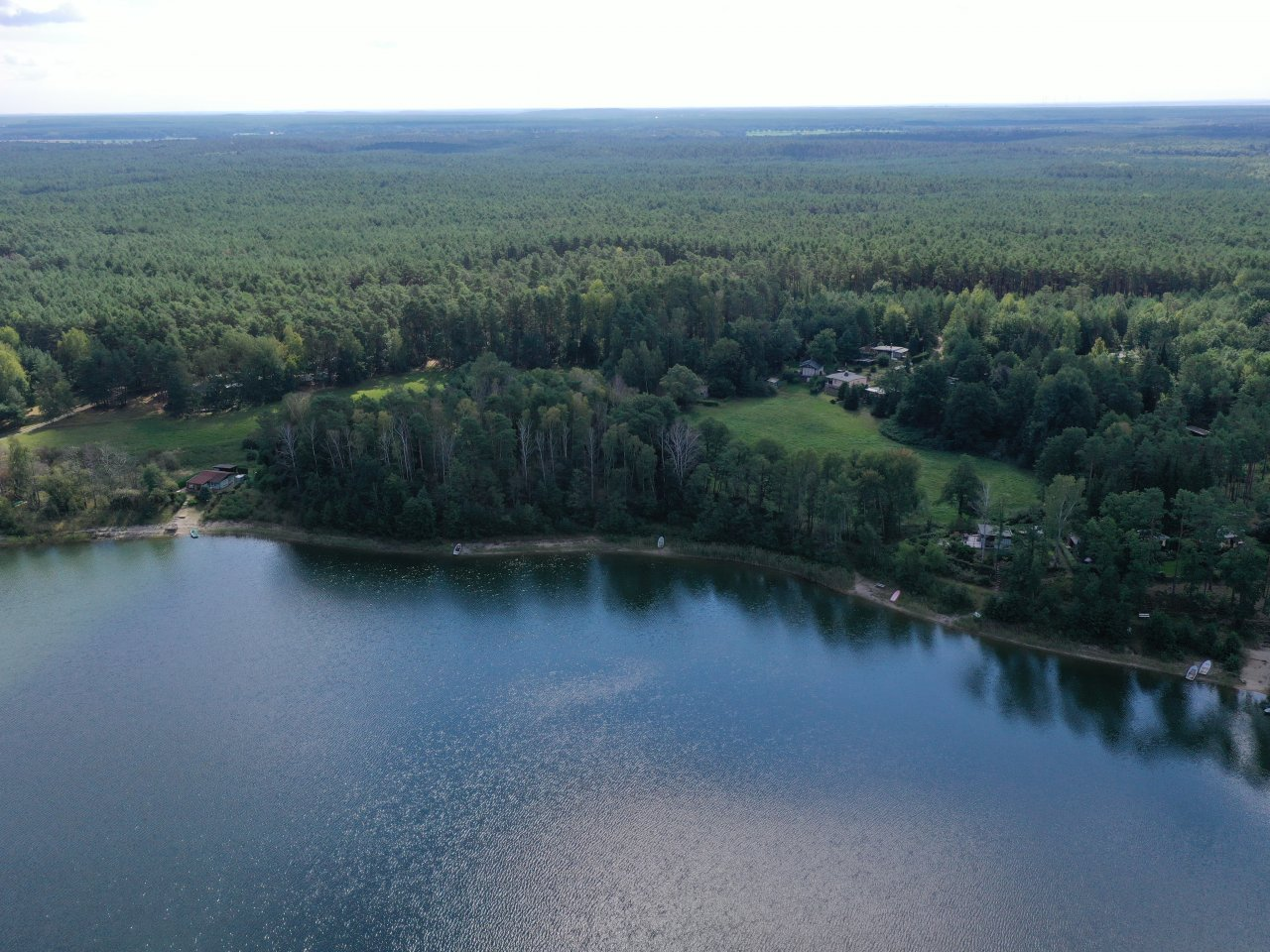 Grundstück am Pinnower See im Schlaubetal **Lage in 2. Reihe**